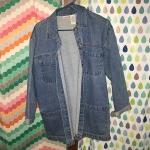 Vintage long jean jacket